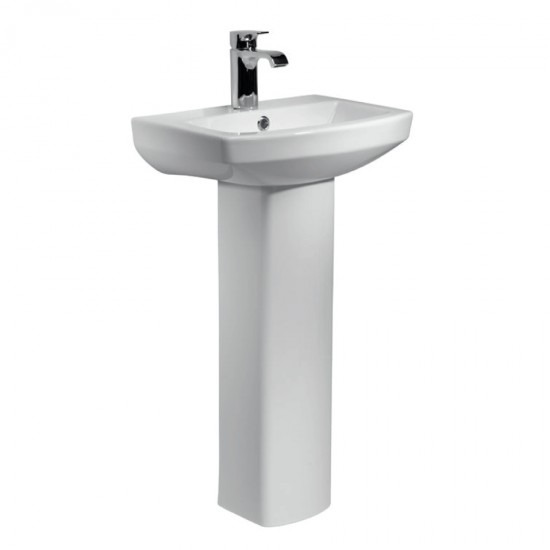 Kartell Aspect 460mm 1 Tap Hole Basin & Pedestal