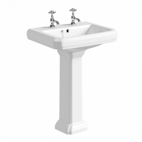 Kartell Astley 600mm 2 TH Basin & Pedestal