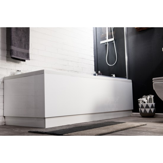 Cassellie MDF High Gloss Adjustable Bath Panels (Multiple Sizes)