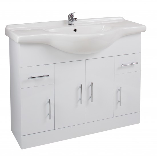 Cassellie 1050mm Four Door, Two Drawer Cabinet with Basin