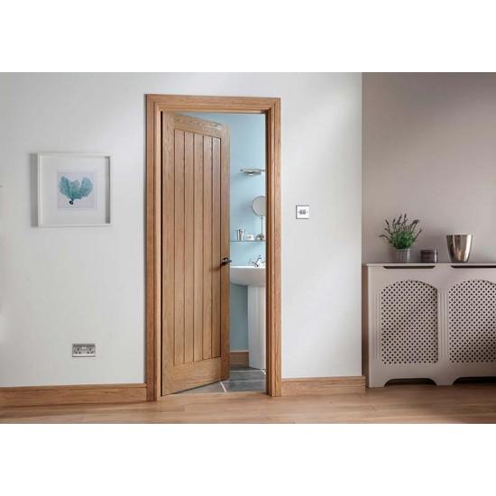 Modernus 5 Panel Oak Fire Door (Multiple Sizes)