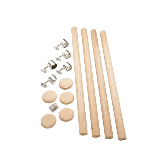 Oak/chrome Rail-In-A-Box Complete Set