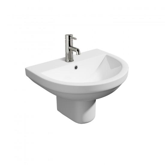 Kartell Code 550mm Basin & Semi Pedestal 1TH