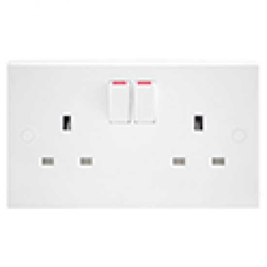13A, 2 gang SP Double Socket