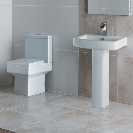 Kartell Embrace Pedestal & 550mm 1 Tap Hole Basin