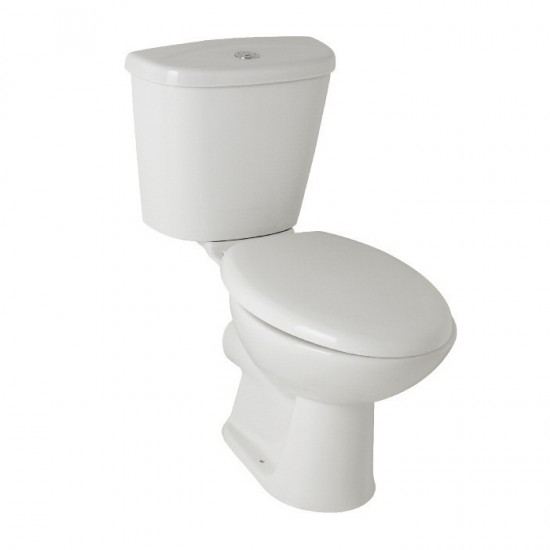 Kartell G4k Ceramic Closed Couple Toilet WC Pan With Cistern & Soft Close Seat