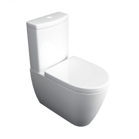 Kartell Genoa Closed Couple Toilet WC Pan With Cistern & Soft Close Seat