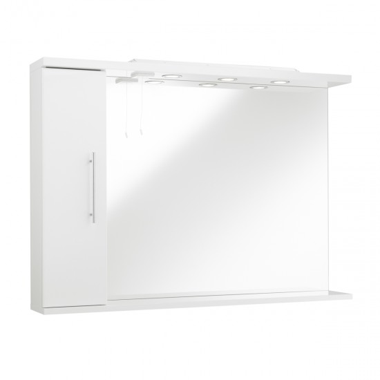 Kartell Impakt Mirror with Side Cabinet & Lights (Multiple Sizes)