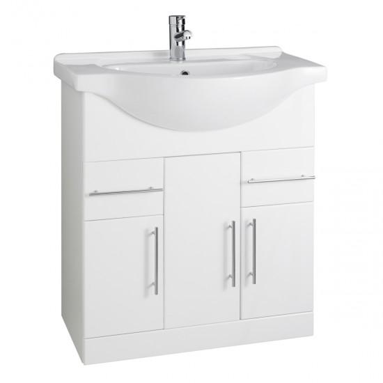 Kartell Impakt White Cabinet with Basin (Multiple Sizes)