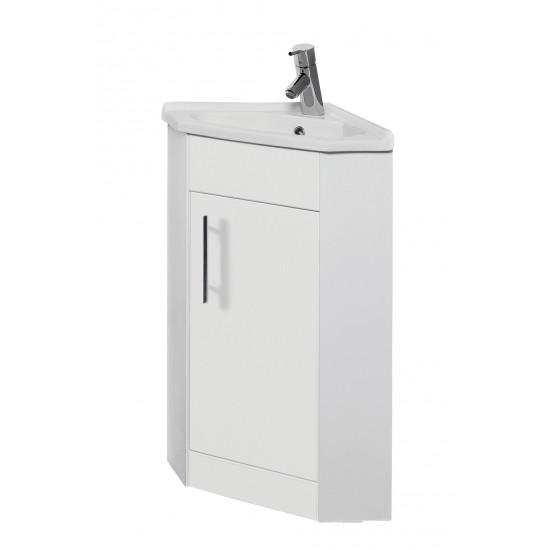 Kartell Impakt White Corner Cabinet With Basin