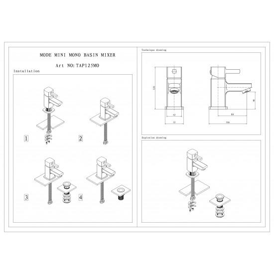 Kartell Adore Mini Mono Basin Mixer