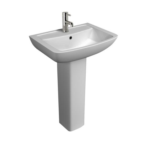 Kartell Pure 550mm Basin & Pedestal 1TH