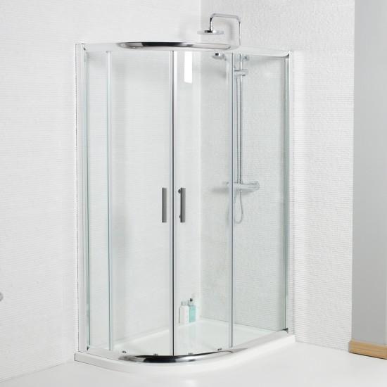 Koncept Offset Quadrant Shower Enclosure (Multiple Sizes)
