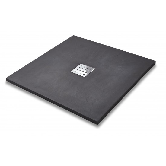 Kartell Slate Effect Square Shower Trays (Multiple Sizes)